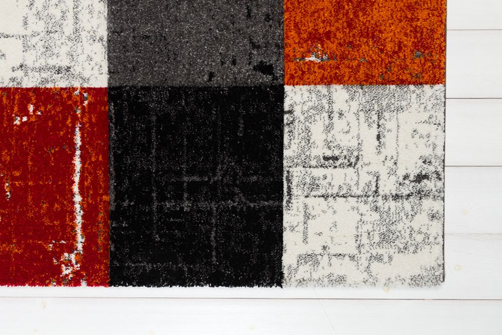 London Square Red/Orange 133x190
